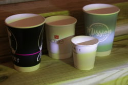 branded single wall and double wall paper cups