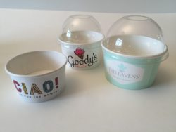 Branded Ice Cream Cups with Dome Lids